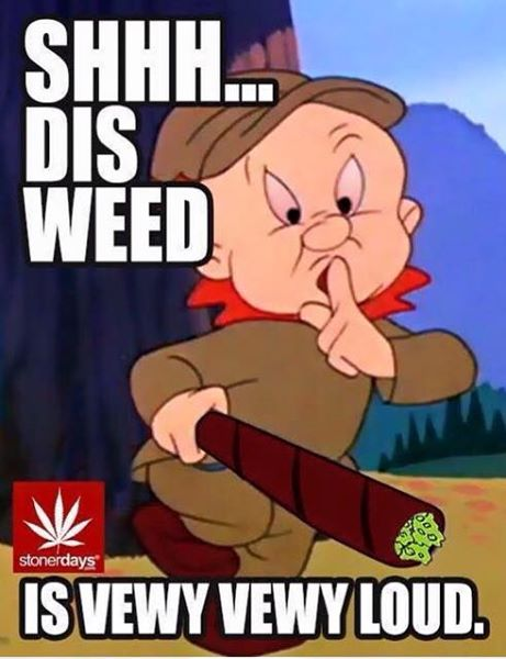 shhh dis weed is very loud by stonerdays