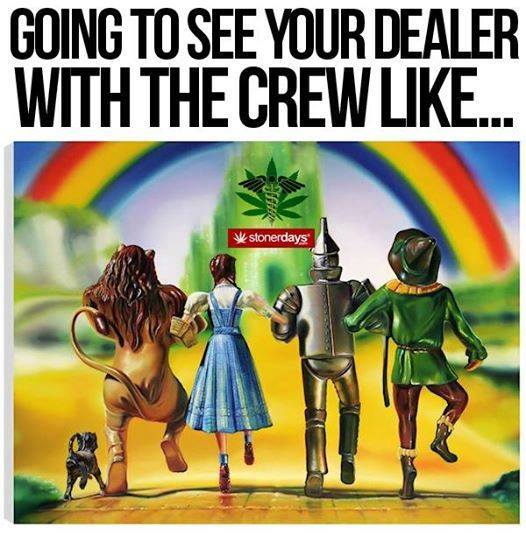 going to see your dealer with the crew like...