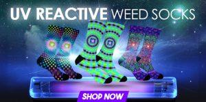 StonerDays New UV Reactive Socks